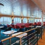 The restaurant and lounge on the Hollandica ferry